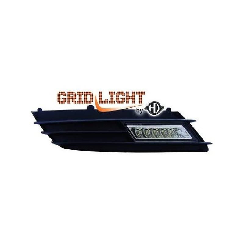 Feux de jour diurnes avec grilles Opel ASTRA H 04-09 chrome