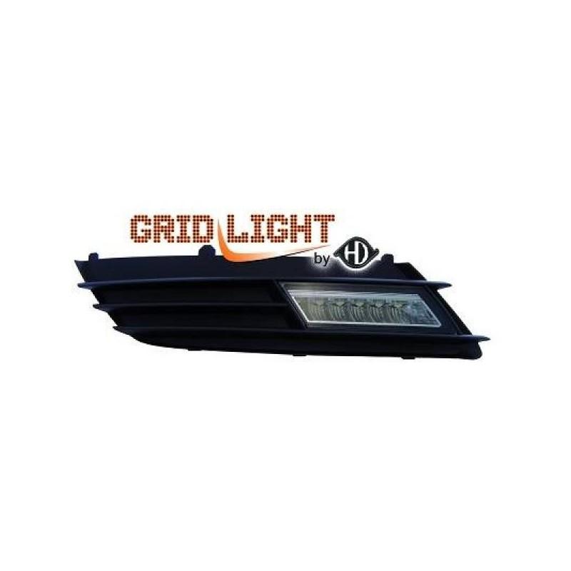 Feux de jour diurnes avec grilles Opel ASTRA H 04-09 noir
