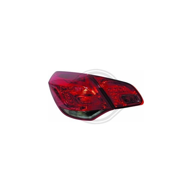 Feux arrieres LED Opel Astra J apres 2009 rouge/fumé
