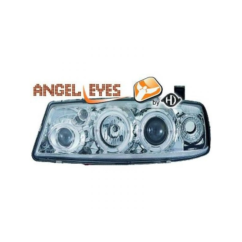 Phares angel eyes chrome Opel CALIBRA 89-97