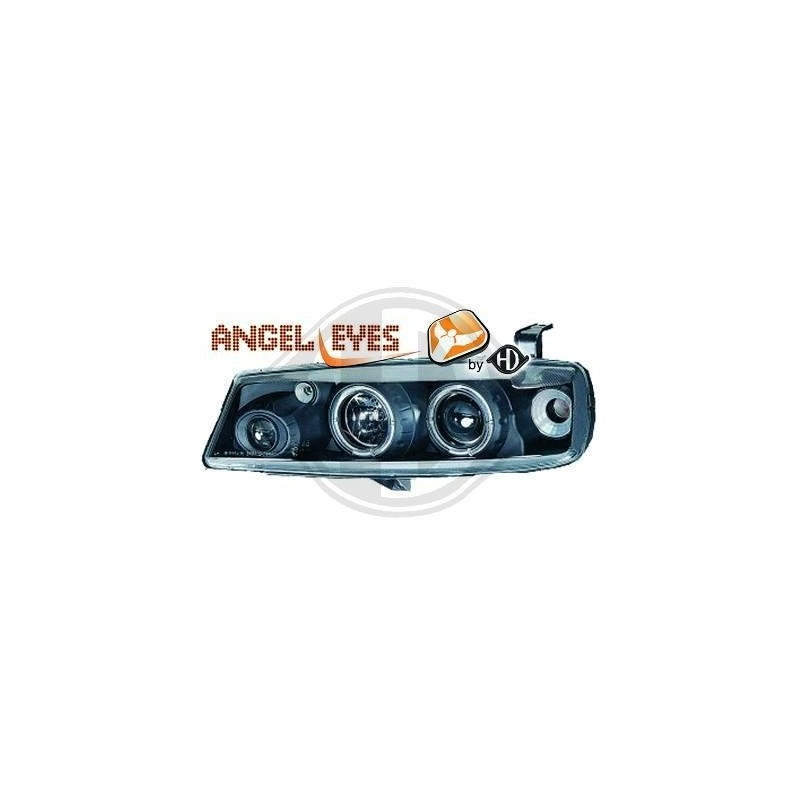 Phares angel eyes noir Opel CALIBRA 89-97