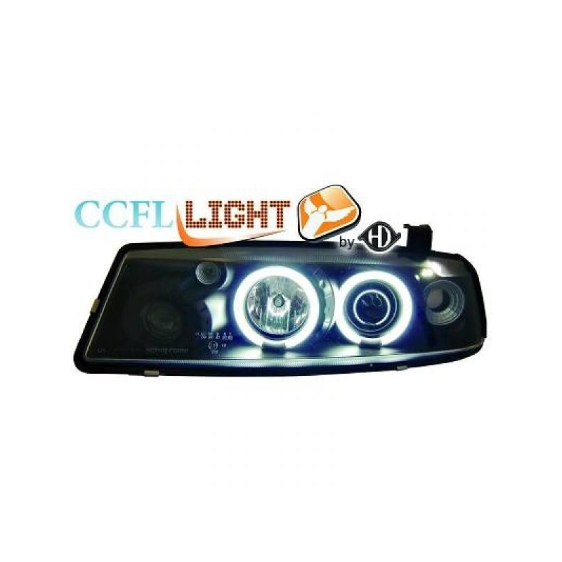 Phares angel eyes CCFL noir Opel CALIBRA 90-98