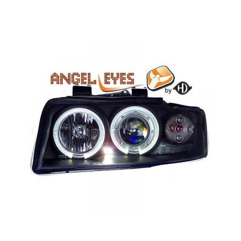 Phares angel eyes noir Audi A4 00-04