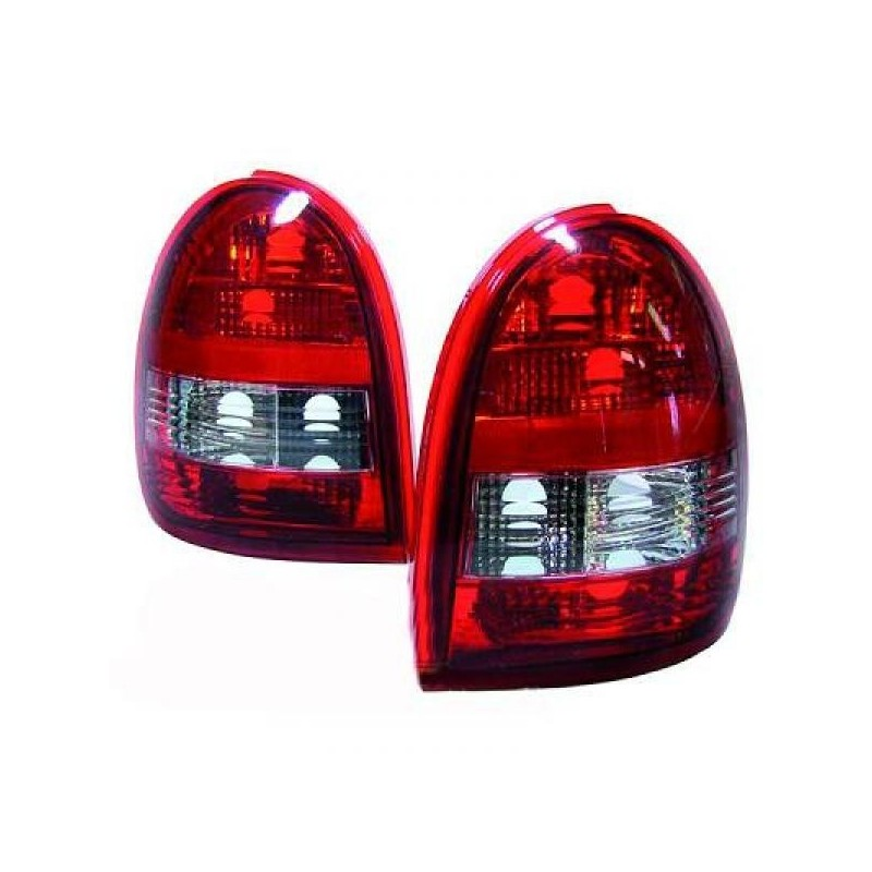 Feux arrières rouge-blanc Opel CORSA B 3-portes 93-00
