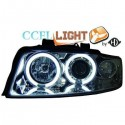 Phares angel eyes CCFL cristal/chrome Audi A4 01-04