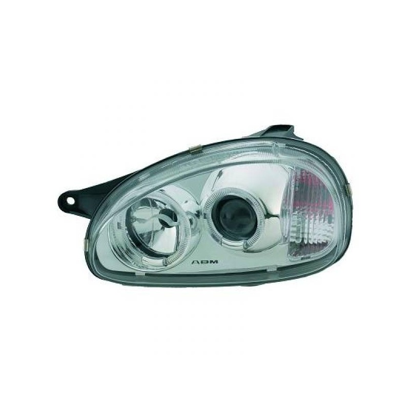 Phares angel eyes Opel CORSA 93-00 cristal/noir