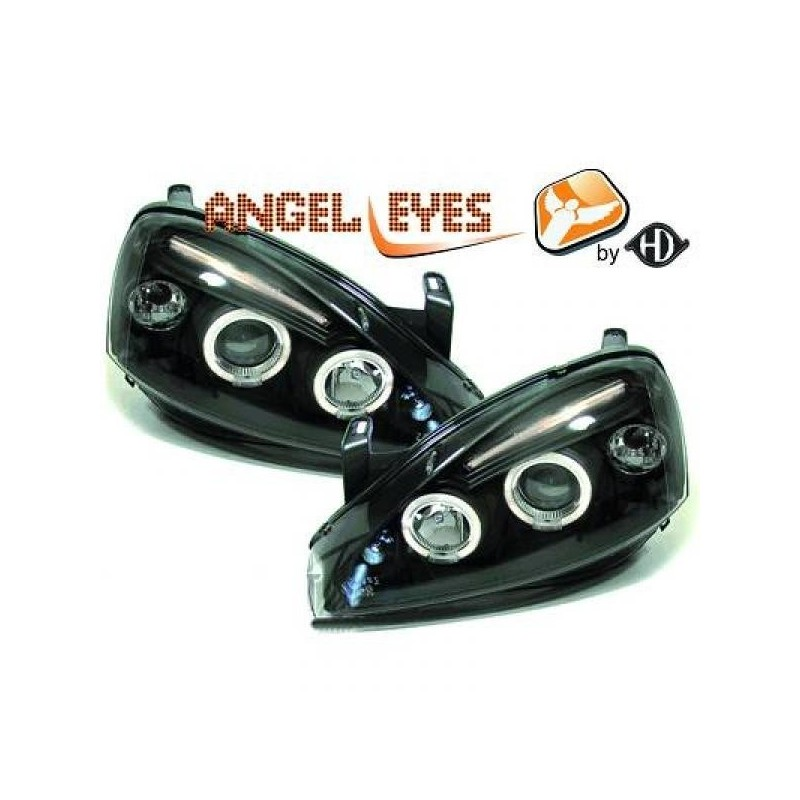 Phares Angel Eyes New Style Opel CORSA C 00-06