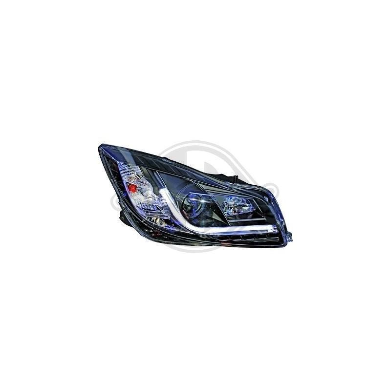 Phares LED a tube Opel INSIGNIA apres 2008 noir