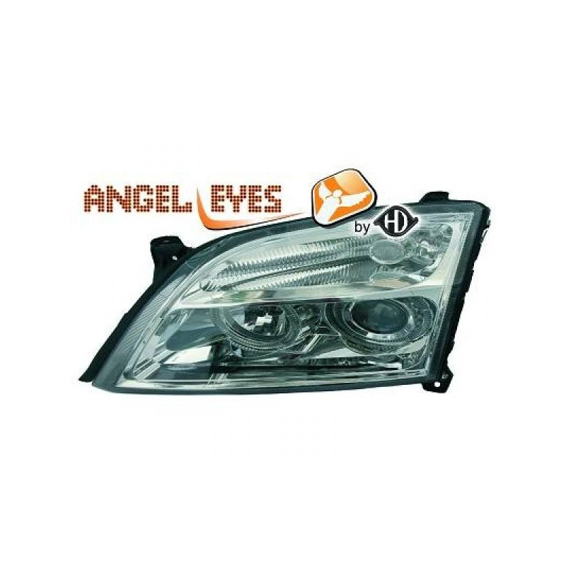 Phares angel eyes chrome Opel VECTRA C 02-05