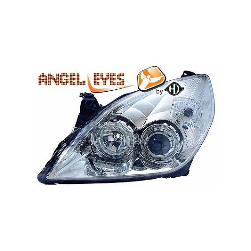 Phares angel eyes chrome Opel Signum 05-08