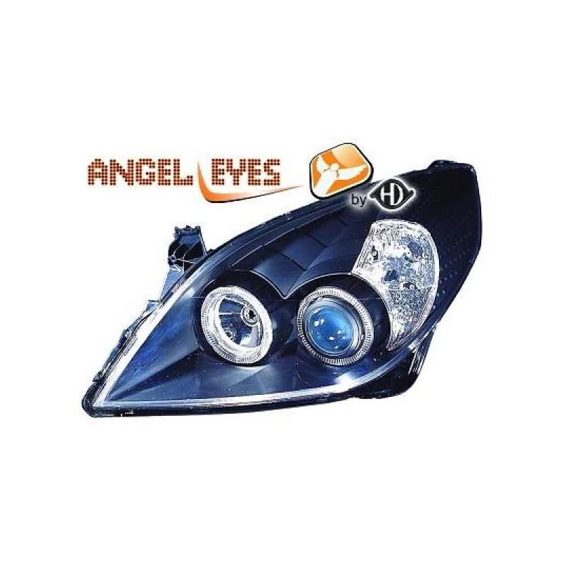 Phares angel eyes noir Opel Signum 05-08