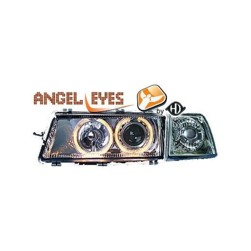 Phares angel eyes chrome Opel VECTRA 88-95