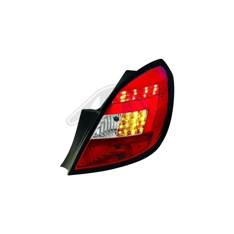 Feux arrière LED Chrome/rouge Opel CORSA D apres 2006