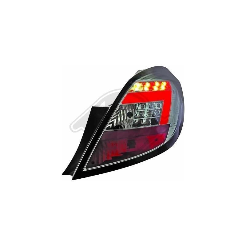Feux arrière LED VERRE CLAIR FUMEE Opel CORSA D apres 2006