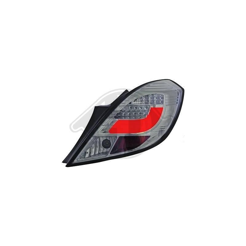 Feux arrière Opel CORSA D apres 2006 3 portes cristal/fumé Clignotant LED