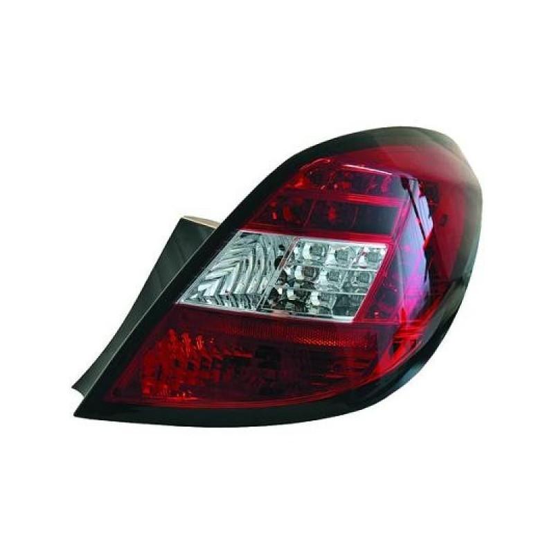 Feux arriere Opel CORSA D apres 2006 LED 5-portes cristal/rouge-blanc