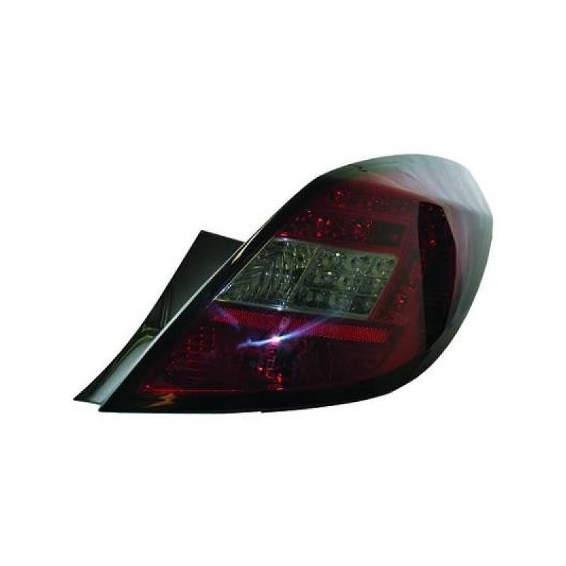 Feux arriere Opel CORSA D apres 2006 LED 5-portes cristal/rouge-noir