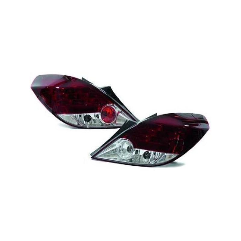 Feux arrières rouge/blanc LED Opel CORSA D apres 2006 3-portes