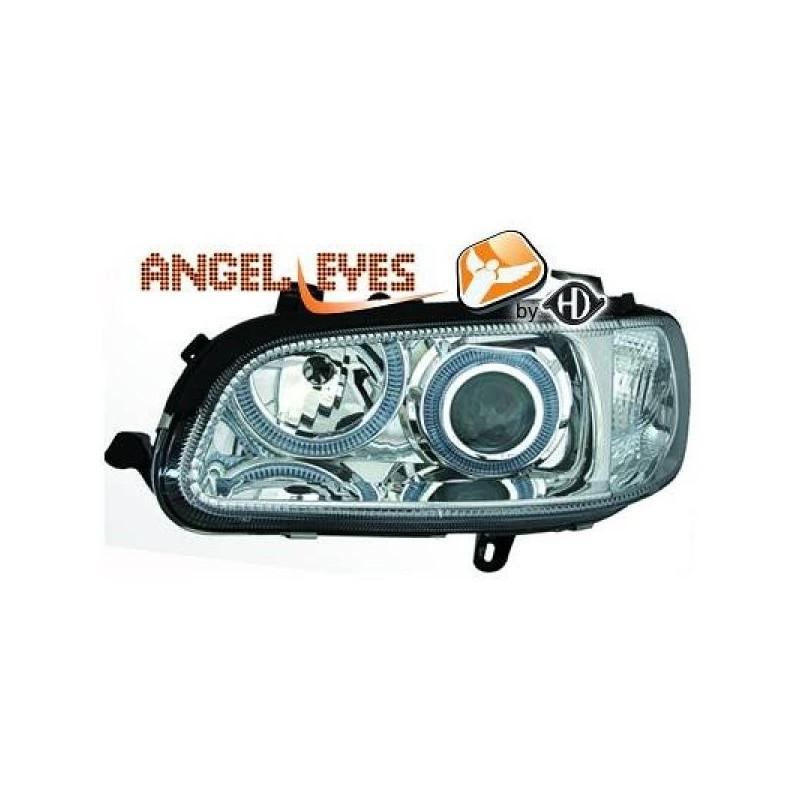 Phares angel eyes chrome Opel OMEGA B 94-99