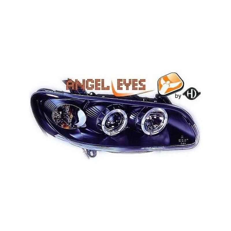 Phares angel eyes noir Opel OMEGA B 94-99
