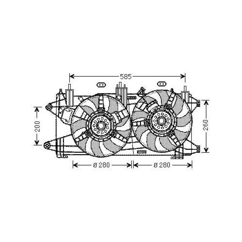 moto-ventilateur complet FIAT DOBLO 2005 à 2010