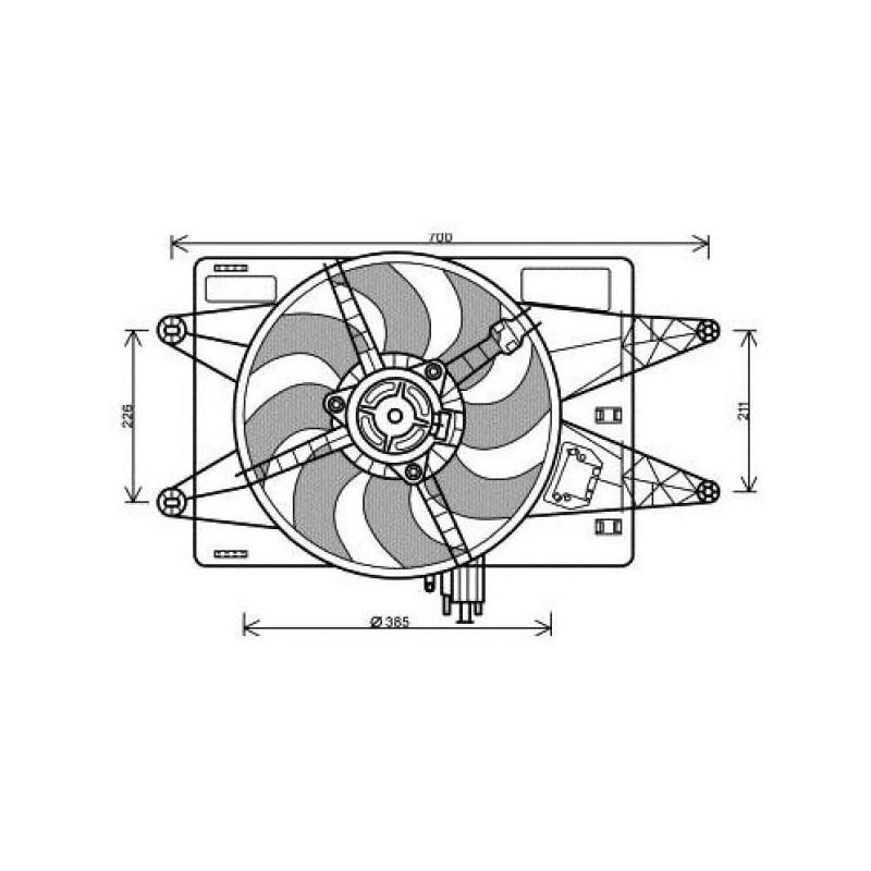 moto-ventilateur complet FIAT DOBLO 2000 à 2005