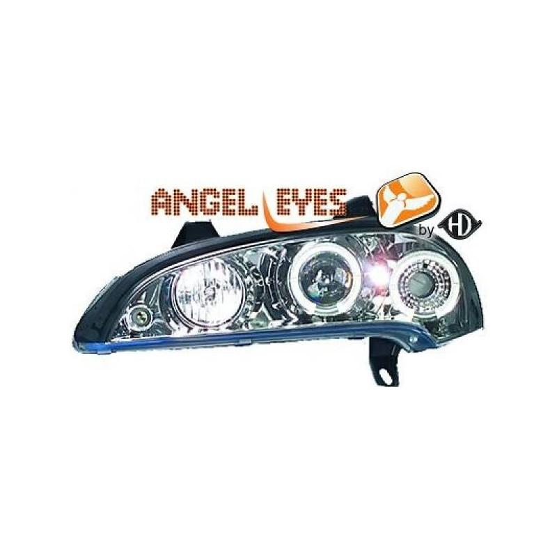 Phares angel eyes chrome Opel TIGRA 94-00 chrome ANGEL EYES