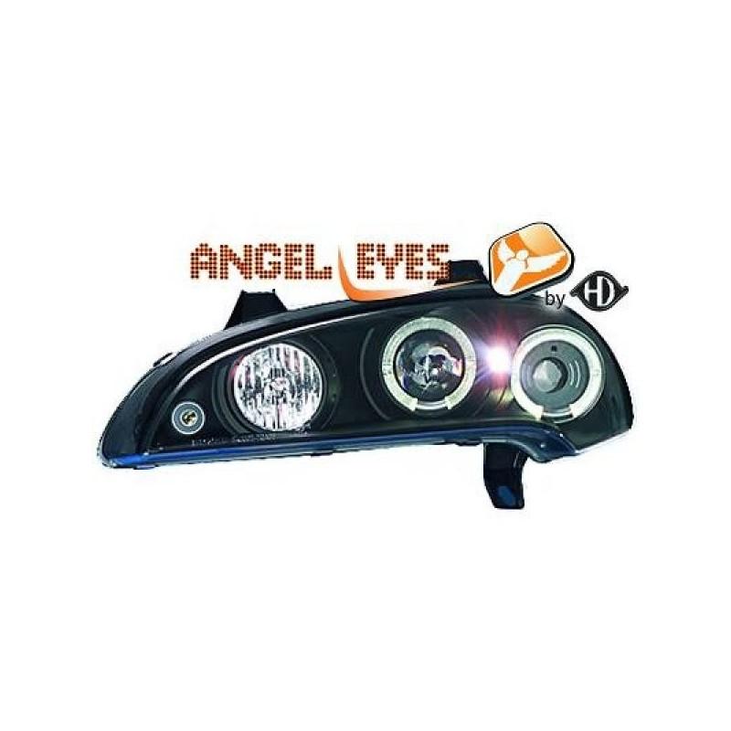 Phares angel eyes noir Opel TIGRA 94-00