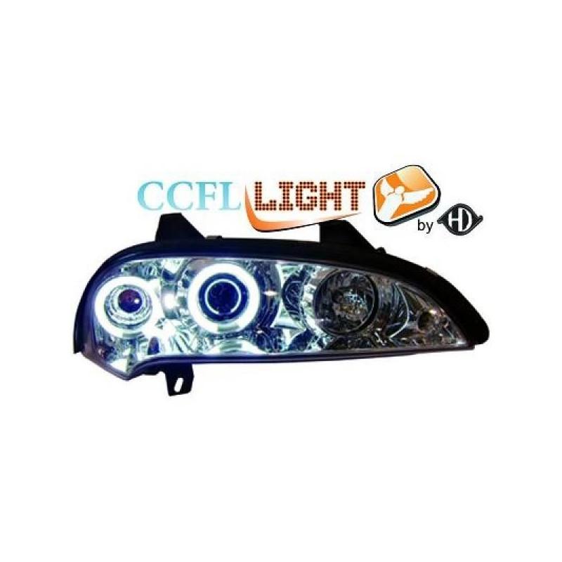 Phares angel eyes CCFL chrome Opel TIGRA 95-03