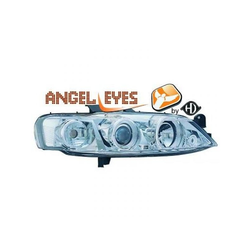 Phares angel eyes chrome Opel VECTRA 95-98