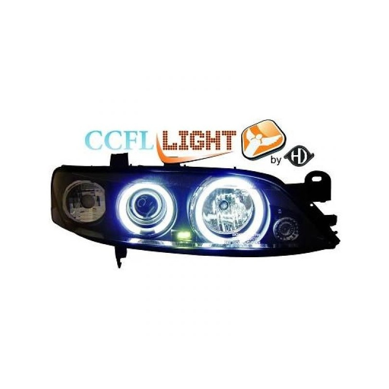 Phares angel eyes CCFL noir Opel VECTRA 96-98