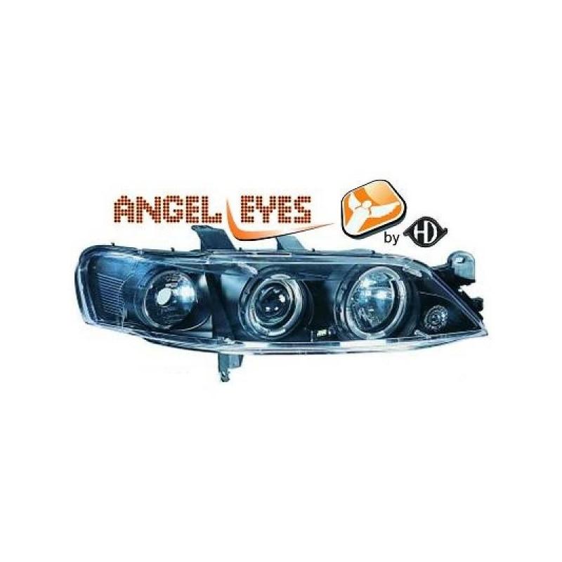 Phares angel eyes noir Opel VECTRA 99-02