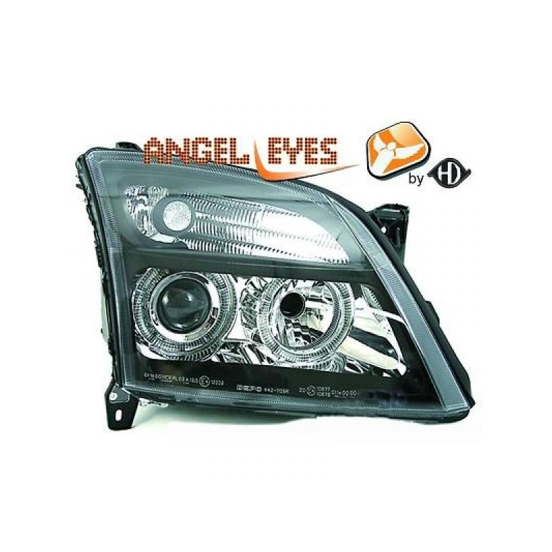 Phares angel eyes noir Opel VECTRA C 02-05