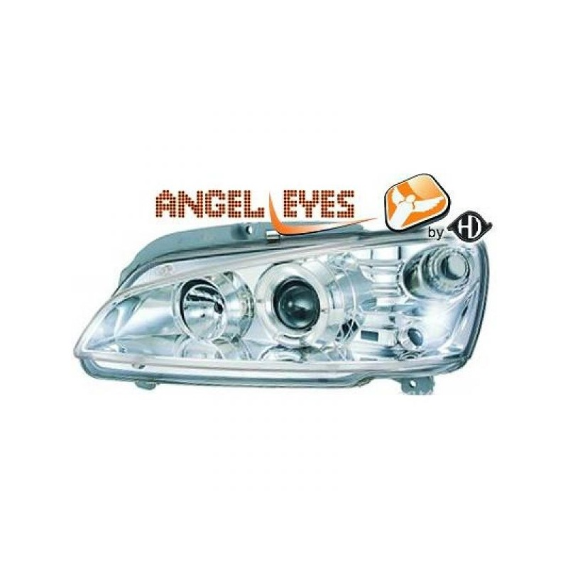 Phares angel eyes chrome Peugeot 106 apres 1996