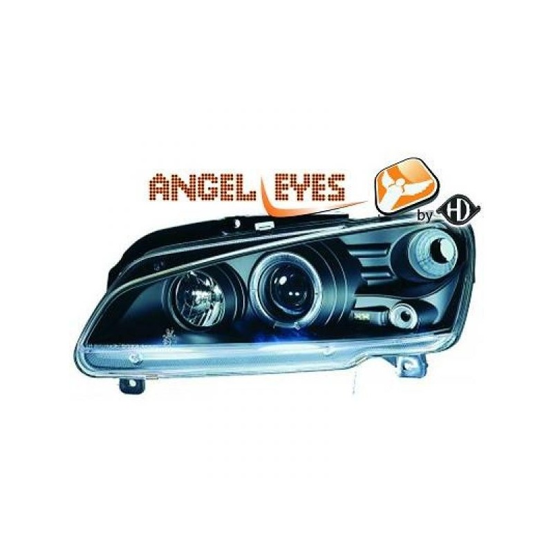 Phares angel eyes noir Peugeot 106 apres 1996