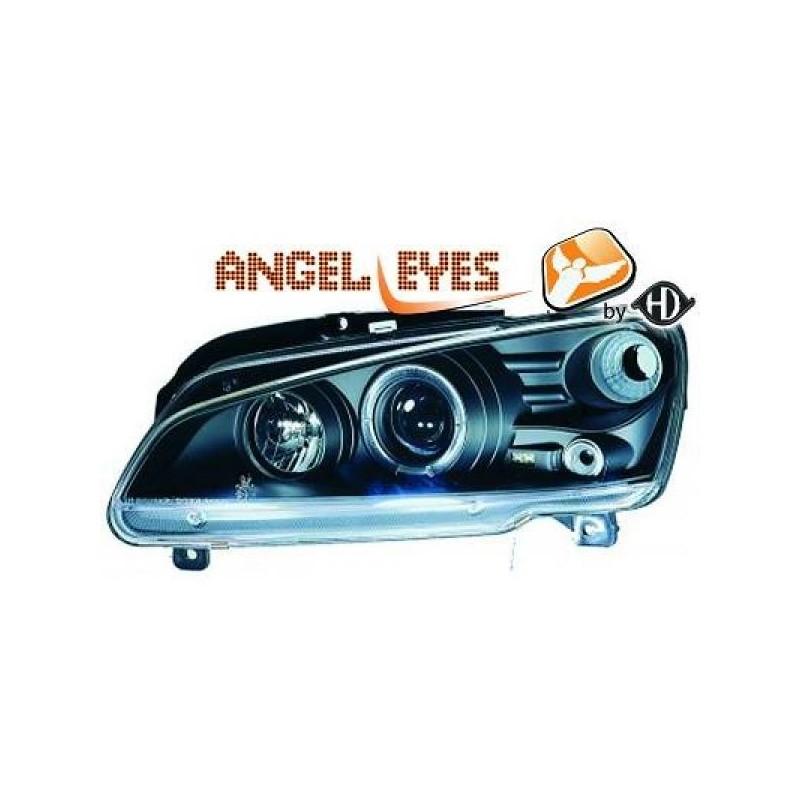 Phares angel eyes noir Peugeot 106 apres 1996