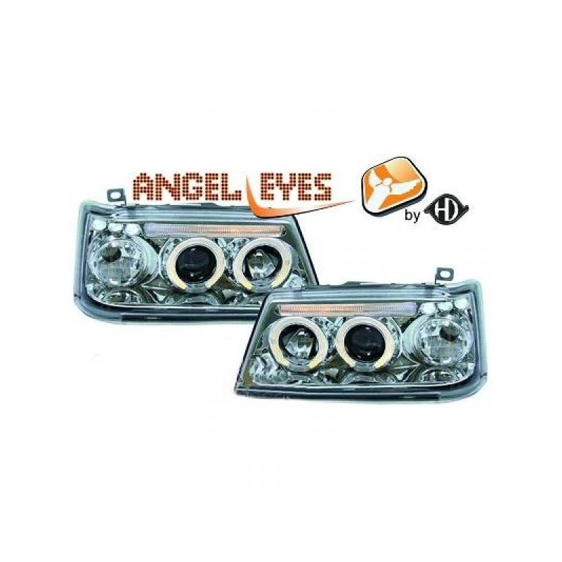Phares angel eyes chrome Peugeot 205 apres 1990