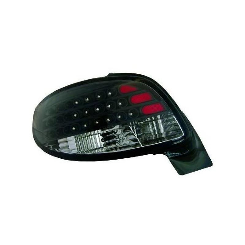 Feux arrières LED noir Peugeot 206cc 98-05