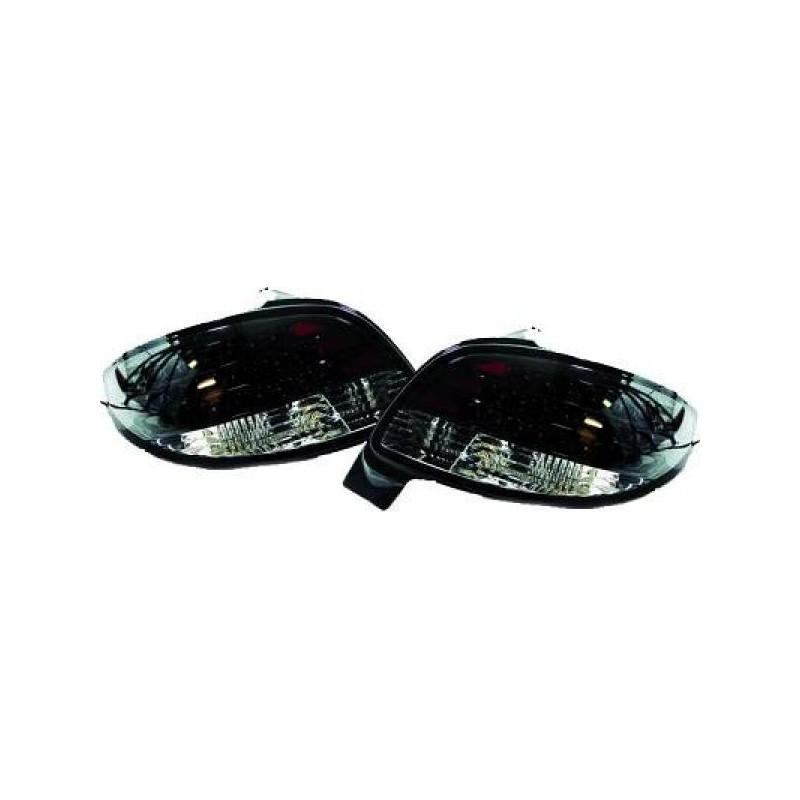 Feux arrières LED noir Peugeot 206 sauf cc 98-05