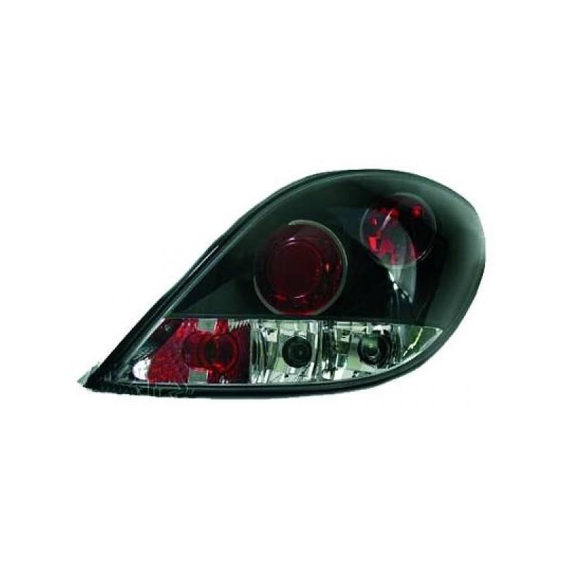Feux arrières noir Peugeot 207 06-12 sauf CC