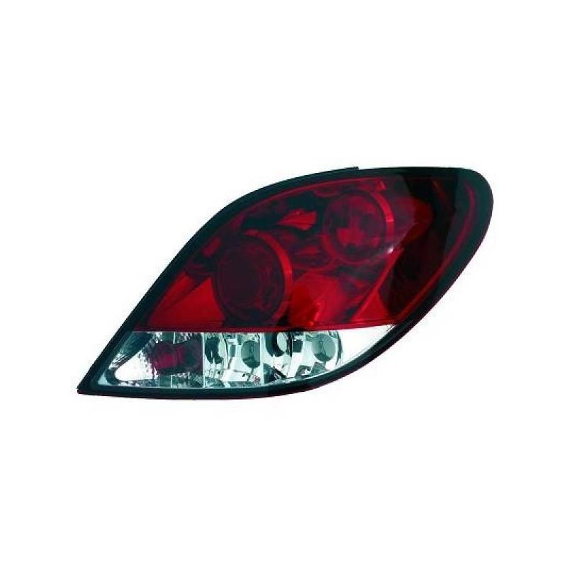 Feux arrières rouge/blanc Peugeot 207 06-12 sauf CC