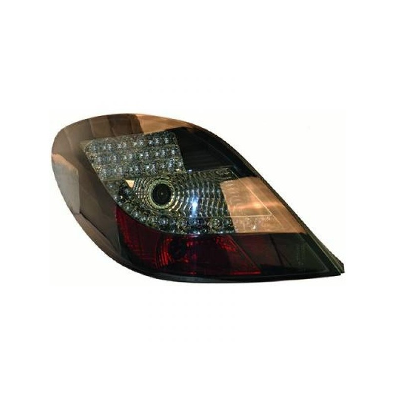 Feux arriere Peugeot 207 06-12 Berline LED cristal/fumé-noir