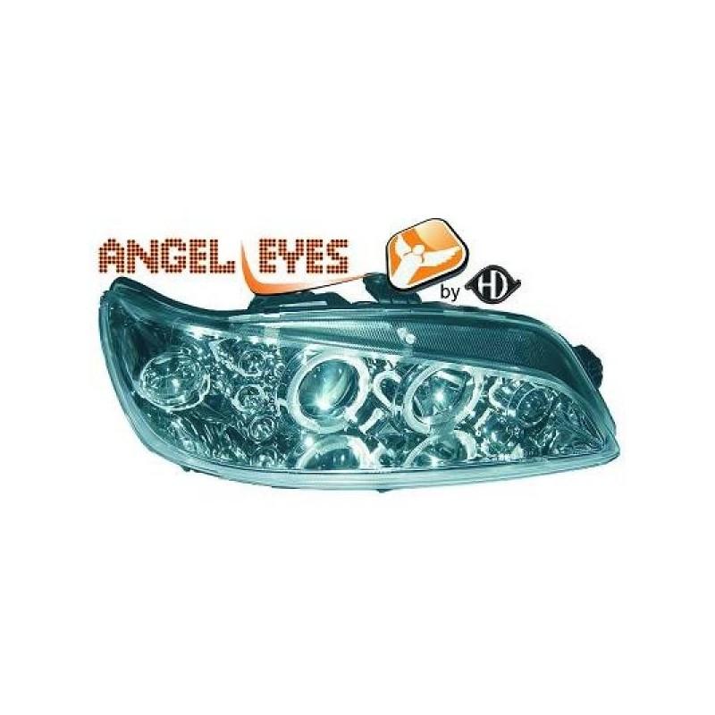 Phares angel eyes chrome . Peugeot 306 97-01