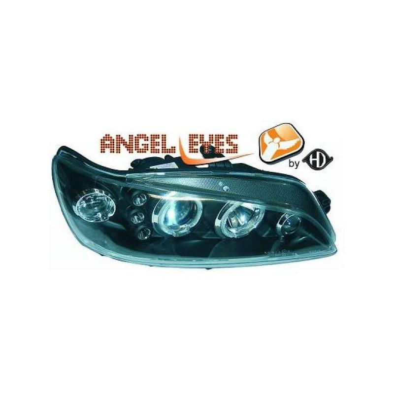 Phares angel eyes noir . Peugeot 306 97-01