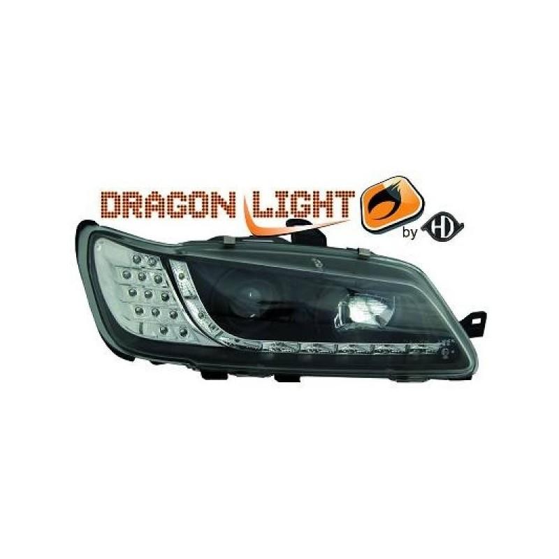 Phares Avant DEVIL EYES noir Peugeot 306 97-00 Clignotant LED