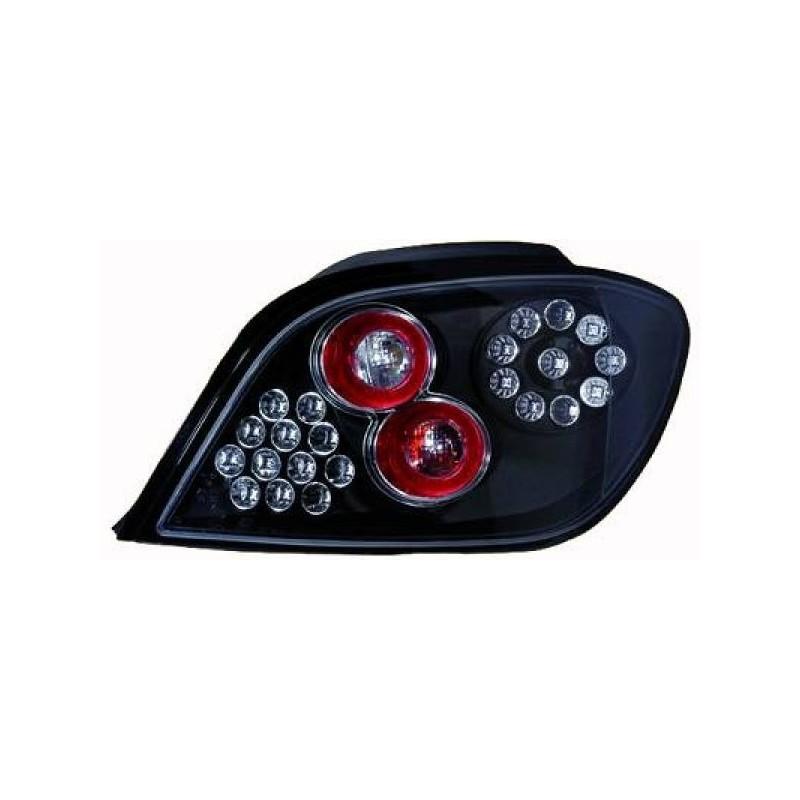 Feux arrières LED noir Peugeot 307 5-portes 97-01 version à hayon
