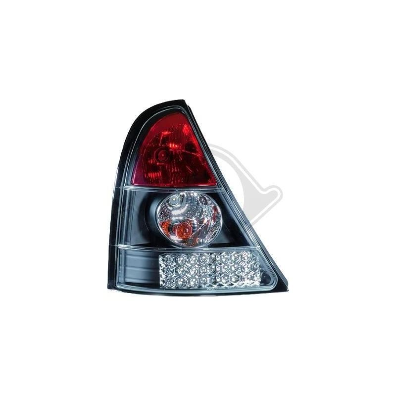 Feux arrieres Renault CLIO 98-01 LED cristal/rouge/blanc