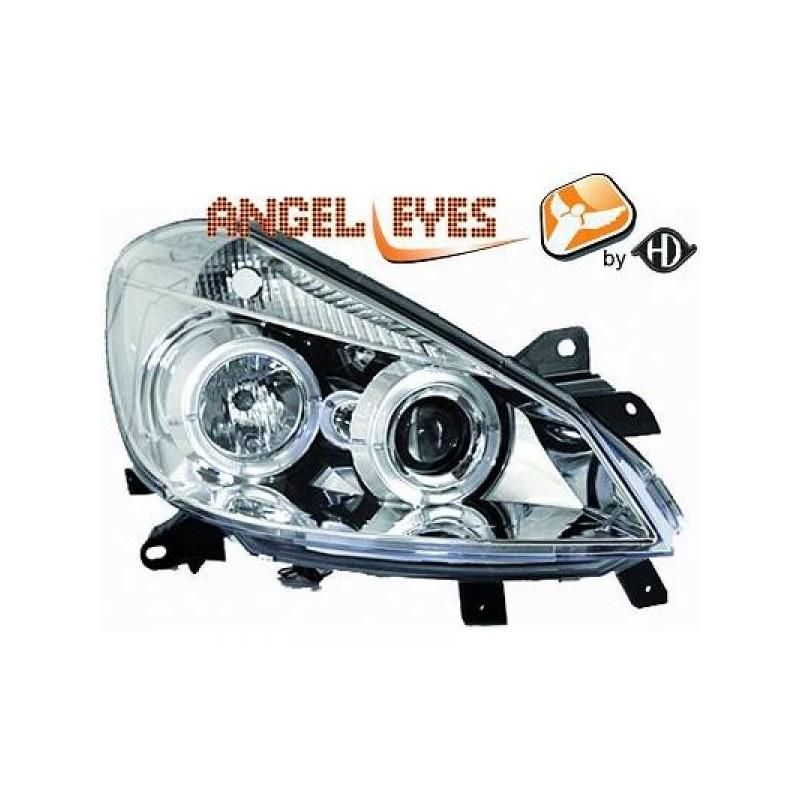 Phares angel eyes chrome Renault CLIO apres 09.2005
