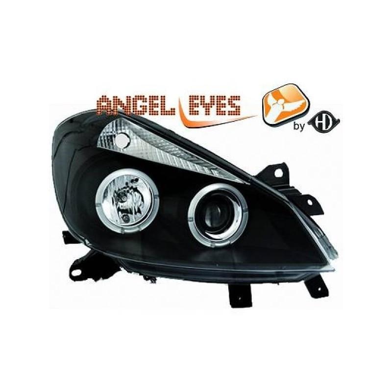 Phares angel eyes noir Renault CLIO apres 09.2005