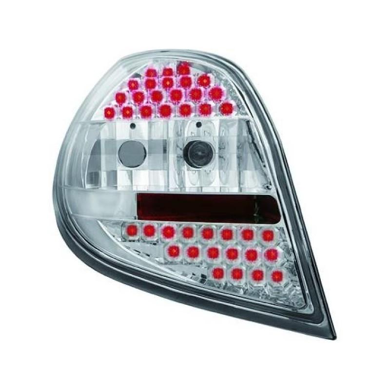 Feux arrières LED chrome Renault CLIO apres 09.2005